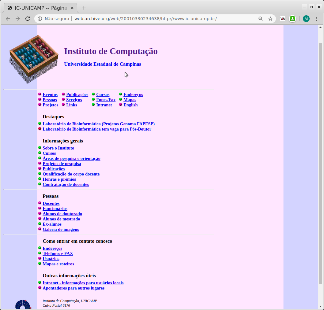 History of IC Websites
